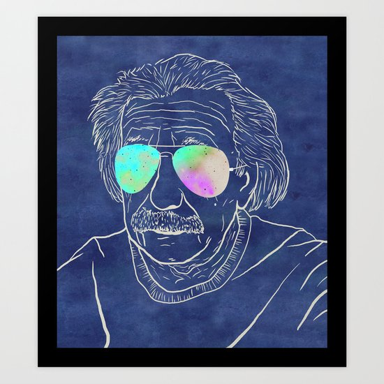 Albert wears his sunglasses at night Art Print
