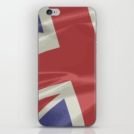 Silk Union Jack Flag Closeup iPhone Skin