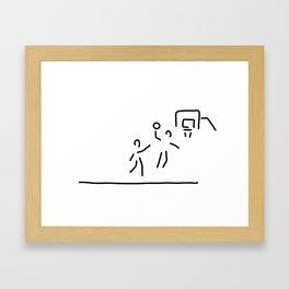 basketball usa basketball player Framed Art Print