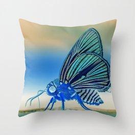 Azul Mothra Throw Pillow