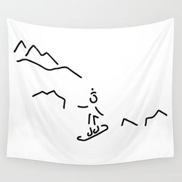 snowboarder skiing winter sports Wall Tapestry
