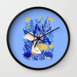 Yellow Dandellion Wall Clock