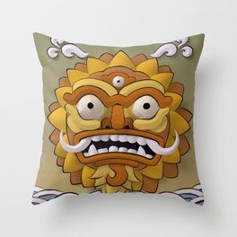 The Angry Sun Throw Pillow