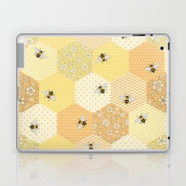 Patchwork Bees Pattern Laptop & iPad Skin