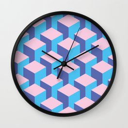 Pink Bars Wall Clock