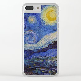 The Starry Night by Vincent van Gogh (1889) Clear iPhone Case