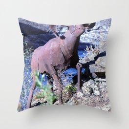 Metal Mountain Goat - Spokane, WA Throw Pillow