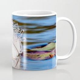 Swan Feather on Lake Coffee Mug