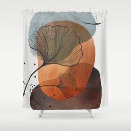 Ginko Illustration Shower Curtain