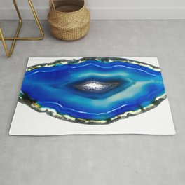 Intense blue agate Rug
