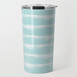 Irregular Stripes Mint Travel Mug