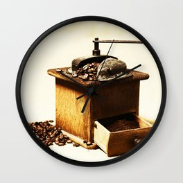 coffee grinder 5 Wall Clock