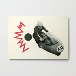 Motorcycle Madness Metal Print