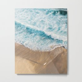 The Surfer and The Ocean Metal Print