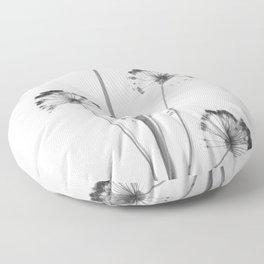 black and white flower wallpaper, flower decor, printable art Floor Pillow