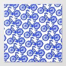 roule ma poule - wanna ride my bicycle BLUE Canvas Print