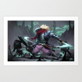 FIGHT IN THE DUNGEON Art Print