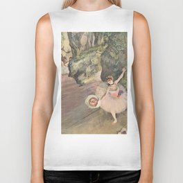 Dancer with a Bouquet of Flowers (Star of the Ballet) Biker Tank