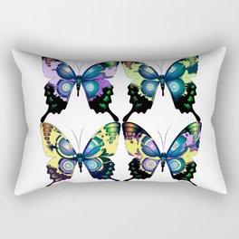 Modern Art Deco Retro Butterflies Rectangular Pillow