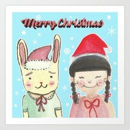 Christmas Friendship Art Print