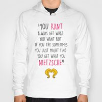 hedwig Hoodies featuring Hedwig, Kant & Nietzsche by byebyesally
