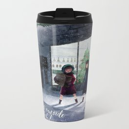 The weather outside is frightful Metal Travel Mug