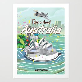 Australia vintage travel poster Art Print