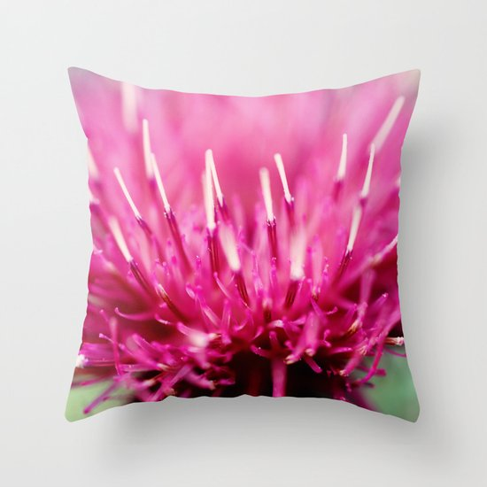 Frosted Tips Throw Pillow