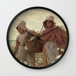 The Cotton Pickers by Winslow Homer, 1876 Wall Clock