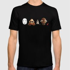 Make the Unlikeliest of Friends, Wherever You Go 2 Black MEDIUM Mens Fitted Tee