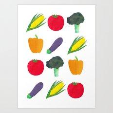 Veggies! Art Print