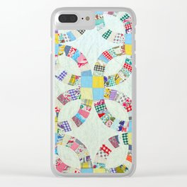 Colorful quilt pattern Clear iPhone Case