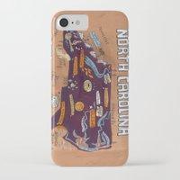 north carolina iPhone & iPod Cases featuring NORTH CAROLINA by Christiane Engel