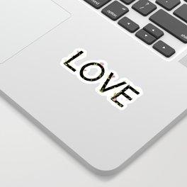 LOVE in bloom Sticker