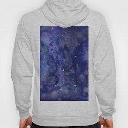 Night Sky Galaxy Nebula Stars Watercolor Space Texture Hoody