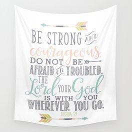 Joshua 1:9 Bible Verse Wall Tapestry