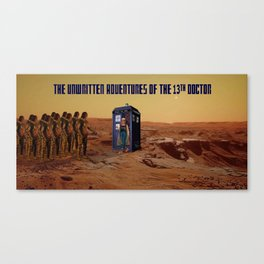 Doctor Who and the Martian Warriors Canvas Print
