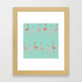 MARCH OF THE FLAMINGOS Framed Art Print