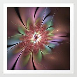 Abstract Fantasy Flower, Fractal Art Art Print