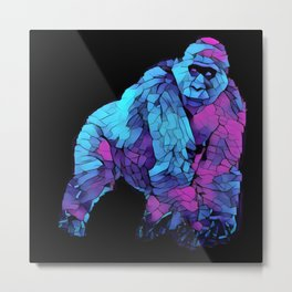 Colorful Lowland Gorilla Metal Print