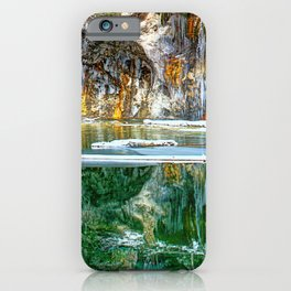A Serene Chill - Hanging Lake Colorado Panorama iPhone Case