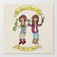broad city Canvas Prints featuring Broad City by HiddenStash Art