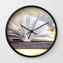 An Open Book Wall Clock