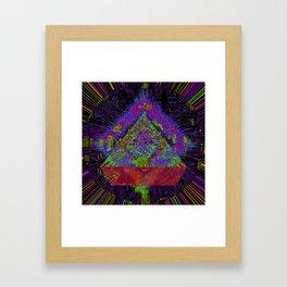 Orange Pyramid Landing Framed Art Print