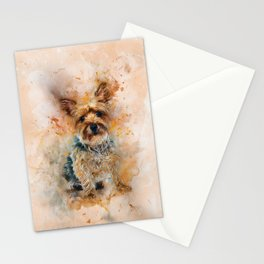 Yorkshire Terrier Art Stationery Cards