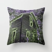 scary Throw Pillows featuring Scary Night by MehrFarbeimLeben