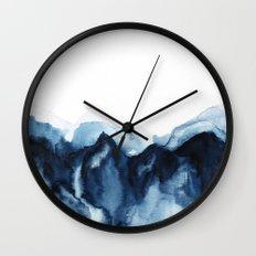 Abstract Indigo Mountains Wall Clock