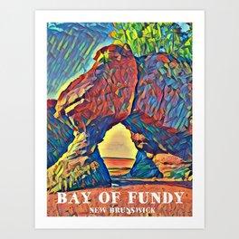 Bay of Fundy New Brunswick Canada at Low Tide Art Print
