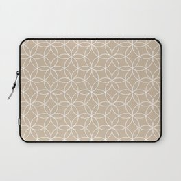 Bege Lotus Laptop Sleeve
