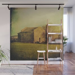 A cute small stone house without windows Wall Mural